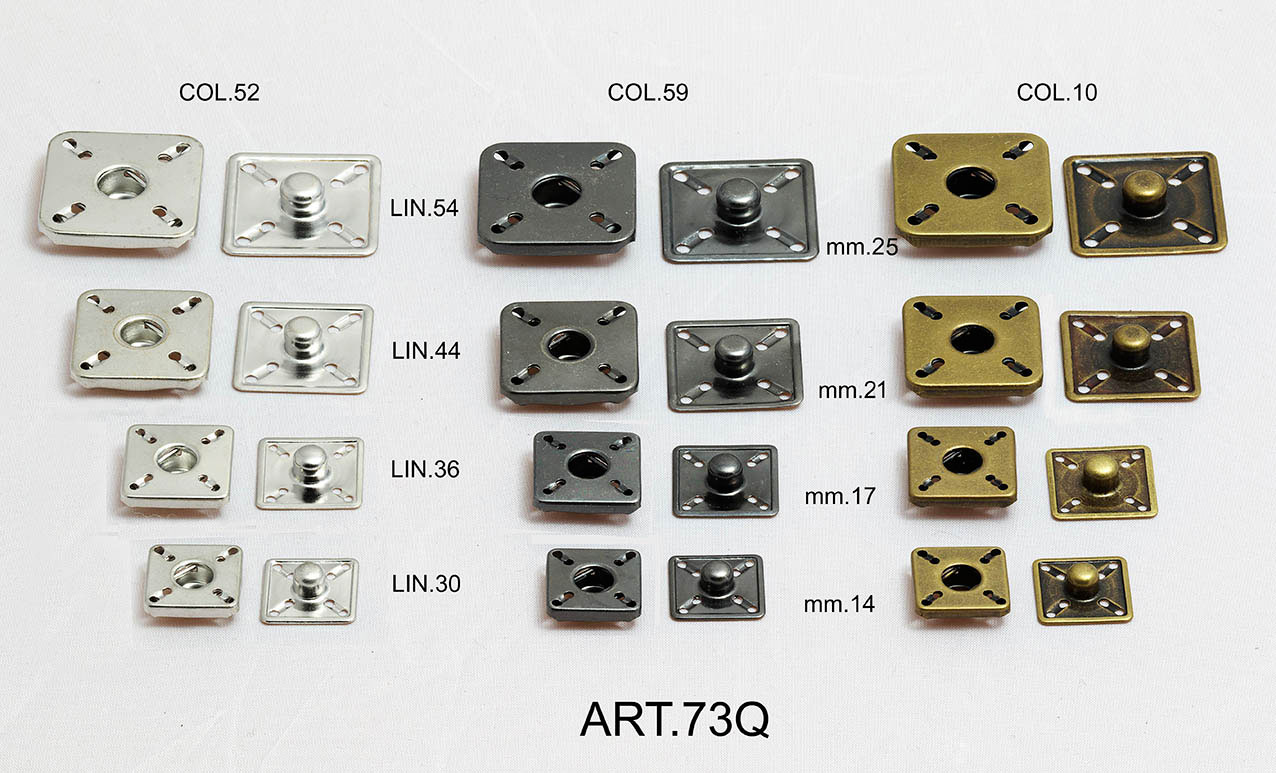 SQUARED SNAP FASTENERS Image