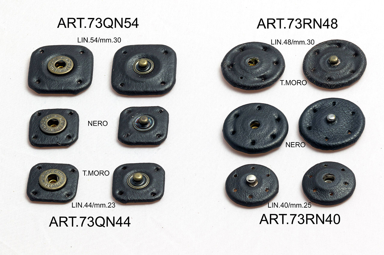 LEATHER COVERED SNAPS FASTENER ITEMS 73QN54\44 e 73QR48\40 Image