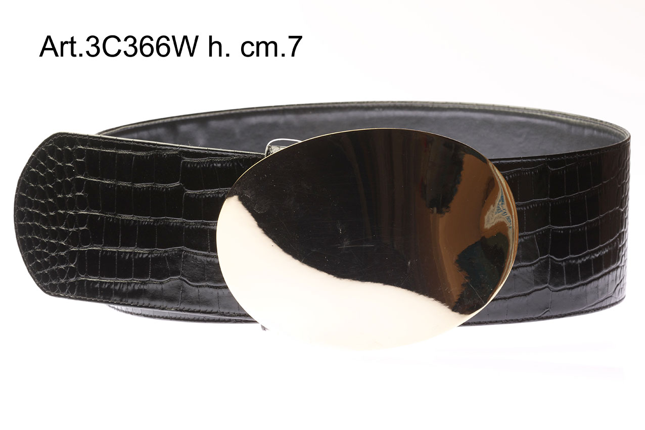 Leather Belt with Buckle Item 3C366W Image