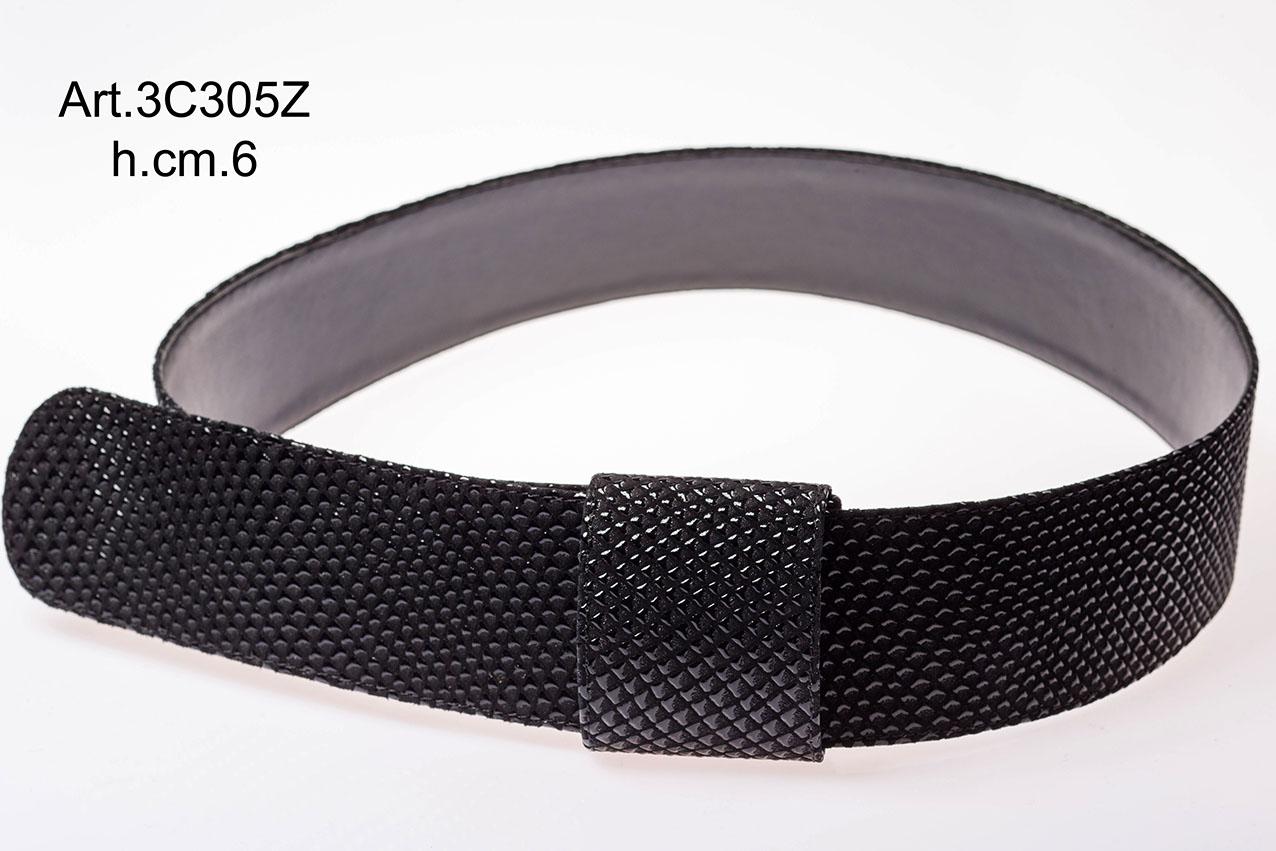 Printed leather belt Item 3C305Z Image