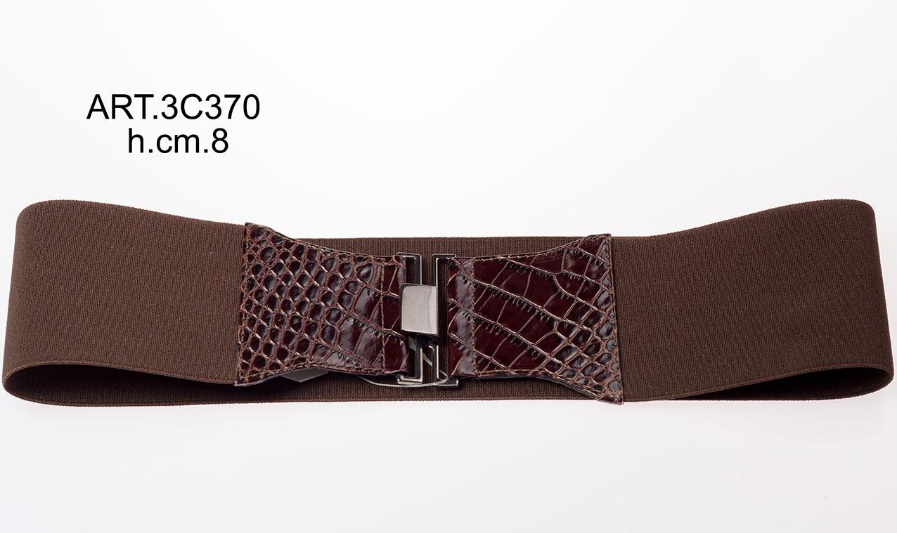 Leather belt and elastic Item 3C370 Image