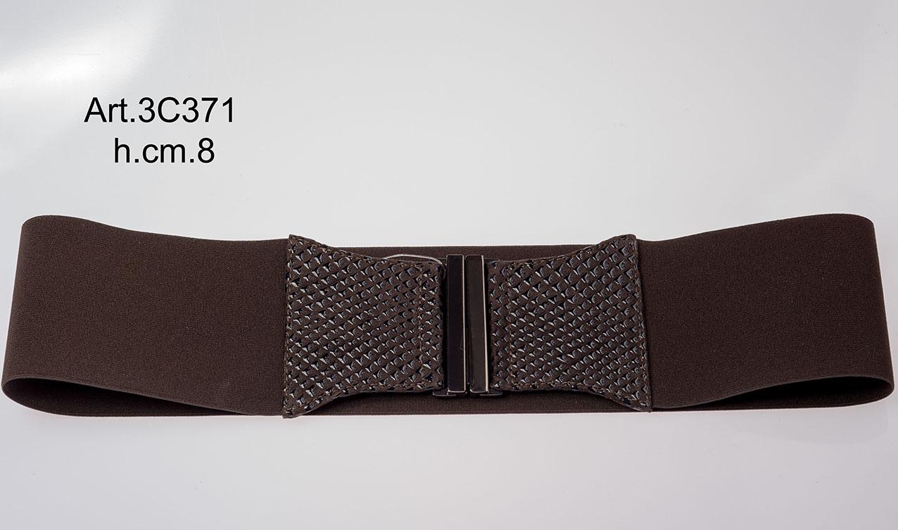 Leather belt and elastic Item 3C371 Image