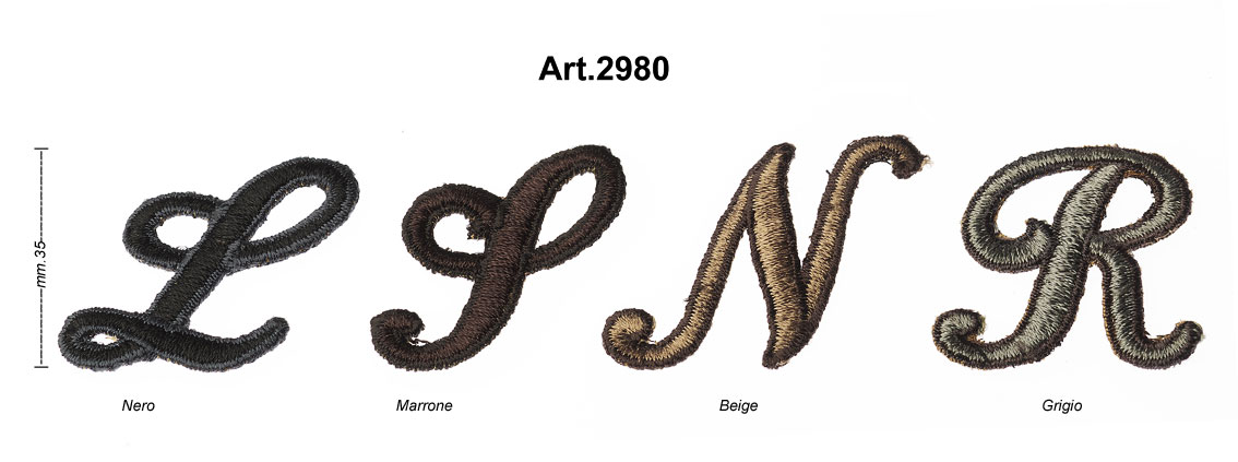 """EMBROIDERED INITIALS """"TIFFANY"""" ART.2980 Image"""
