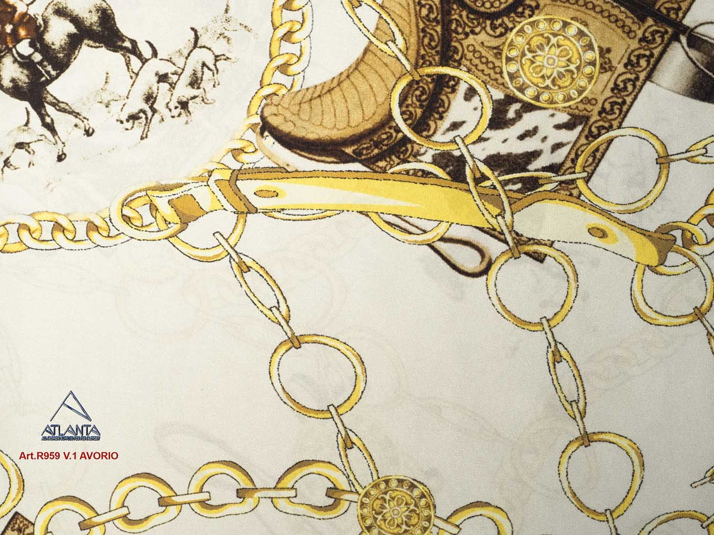 Art.R959 SATIN FLORIDA DIS.67020 INK JET PRINT POLYESTER 100% Image